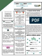 Newsletter 4-19-2012