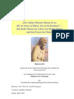 Matthias Haslauer - Diplomarbeit über Marthe Robin
