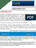Anti Derivative of 0