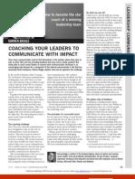 Caching Al líder Para Comunicar Con Impacto