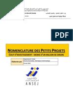 Nomenclature Des Petits Projets