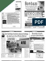 Versión impresa del periódico El mexiquense 27 abril 2011