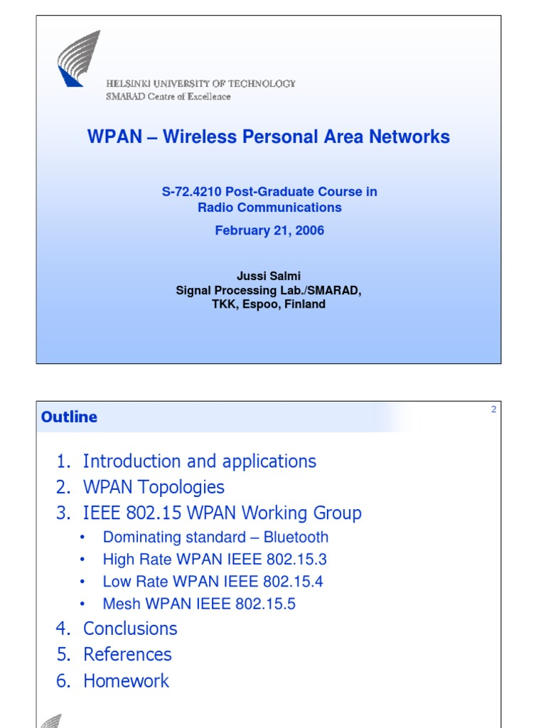 From WPANs to Personal Networks: Technologies and Applications