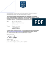 Virginia Memorial Ceremony Invitation 1