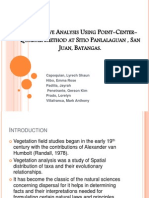 Quantative Analysis Using Point-Center-Quarter Method at Sitio Panlalaguan