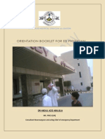 Orientation Booklet for ED Physician