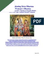 Abandoning Stree Dharma