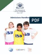 Admissions Handbook
