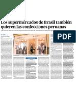 Supermercados de Brazil también quieren textiles del Perú
