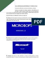 Diferentes Versiones y Distribuciones de Windows 7 y Ubuntu Linux
