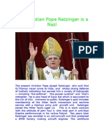 16846903 the Christian Pope Ratzinger is a Nazi