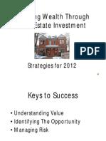 Strategies for Growing Wealth 2012