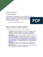 Tipos de métodos de análisis cuantitativo