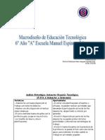 Macro Diseño Educación Tecnológica