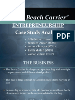 Entrepreneurship Final Term Presentation - The Beach Carrier Case