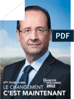 Profession de Foi de Francois Hollande - Second Tour Election Présidentielle 2012