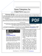 Benay Client Newsletter Spring 2012