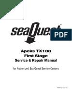 Apeks Tx100 Eerste Trap Service Manual