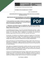 BOLETÍN DE PRENSA 05-2012