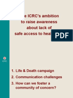 ICRC's Mohini Kramer - raising awareness on lack of safe access to health care
