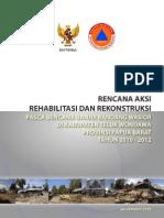 Rencana Aksi Rehabilitasi Rekonstruksi Pascabencana Banjir Wasior Kabupaten Teluk Wondama 2010-2012