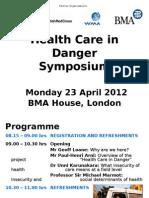 Health Care in Danger - symposium