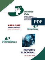 MONITOR PAIS - ABRIL 2012 - REPORTE MCS (Sábado 21-04-2012)