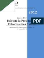 Boletim da Produção de Petróleo e Gás Natural_1_Jan_2012