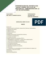 ANÁLISIS E INTERPRETACIÓN DEL DECRETO CON RANGO
