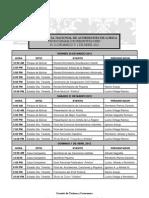 Cronograma de Presentadores