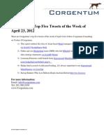 Corgentum's Top Five Tweets of the Week of April 23, 2012