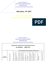 3er Decadal Nro. 247-Abril 2012-Valles-La Paz Centro, Cochabamba Sucre, Tarija, Monteagudo Valle Grande