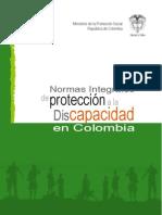 NORMAS INTEGRALES DE PROTECCIÓN A LA DISCAPACIDAD EN COLOMBIA 2010