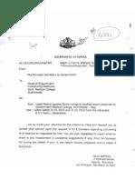 Endosulfan Letter from Govt of Kerala