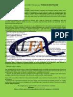 MATERIAL DE APOYO PARA EL EXAMEN FINAL DE TECNICAS DE INVESTIGACION DOCUMENTAL (CURSO DEL 1ER SEMESTRE)