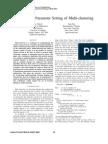Evolutionary Parameter Setting of Multi Clustering