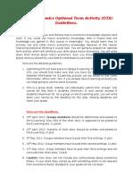 Macro Economics Optional Term Activity Guidelines