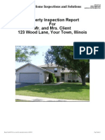 Sample Report from Right at Home Inspections and Solutions