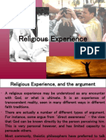 Religious Experience Argument Ppt