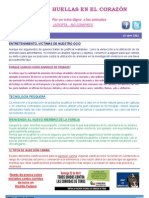 Boletin No. 10 de Huellas en el Corazón (1-15 Mayo 2012)