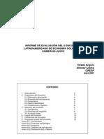 Informe de Evaluación - II Encuentro de Economía Solidaria
