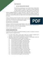 ACTA DE CONCILIACIÓN Nº 082