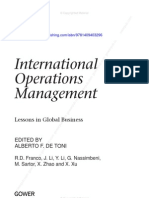 International Operations Management Intro