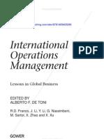 International Operations Management Intro