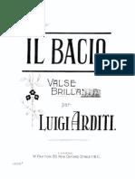 Arditi, Luigi Il Bacio - Piano in D