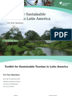 Toolkit for sustainable tourism in Latin America