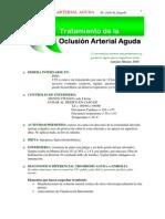 Tratamiento de La Oclusion Arterial Aguda