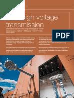 Ultra High Voltage Transmission