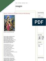 Print - Spiritual Messages [Lyrics] - Mahisasura Mardhini Stothram With Meaning