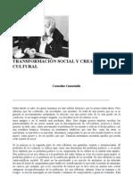castoriadis, cornelius - transformacion social y creación cultural (art)